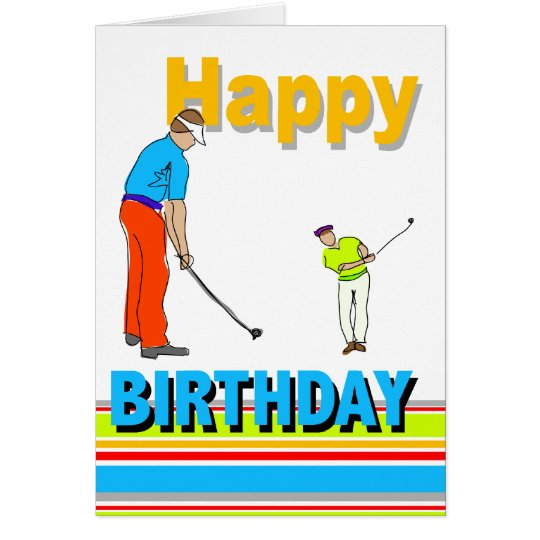 Golf Themed Birthday Card