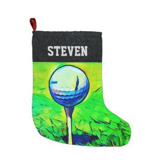 Golf Themed Christmas Stocking
