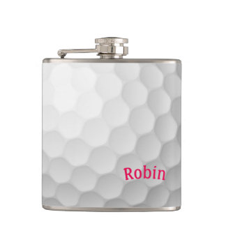 Golf Themed Flask Personalised for Her