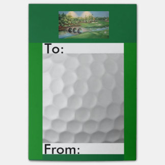 Golf themed post it notes/4x6 post-it® notes