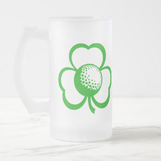 Golf Three Leaf Clover for St. Patrick's Day Beer Mugs