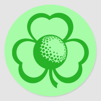 Golf Three Leaf Clover for St. Patrick's Day Stickers