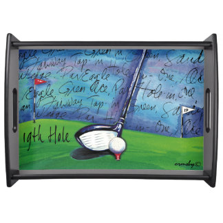 Golf tray-19th hole serving tray