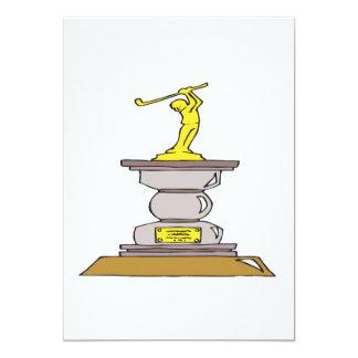 Golf Trophy 13 Cm X 18 Cm Invitation Card