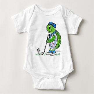 Golf Turtle Baby Bodysuit