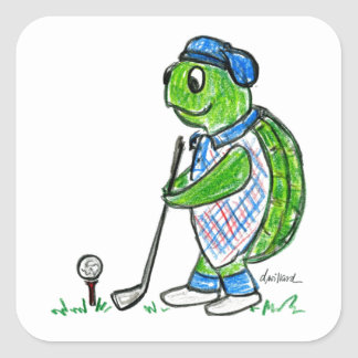 Golf Turtle Stickers