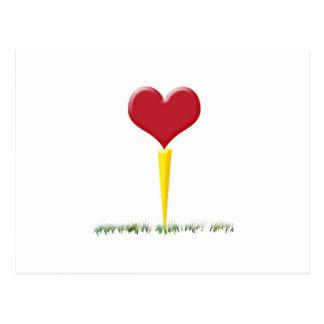 Golf Valentine Postcard