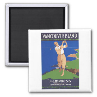 Golf Vancouver Island Canada Magnet