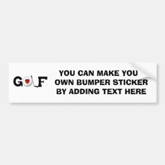 Golf With Golf Ball Tshirts and Gifts Bumper Sticker