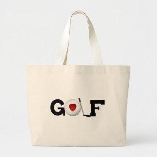 Golf With Golf Ball Tshirts and Gifts Jumbo Tote Bag