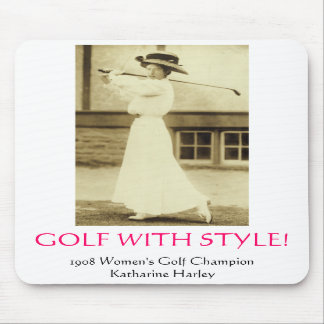 GOLF WITH STYLE - 1908 Women s Golf Champion Mouse Pads