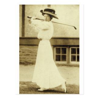GOLF WITH STYLE - 1908 Women s Golf Champion Postcard