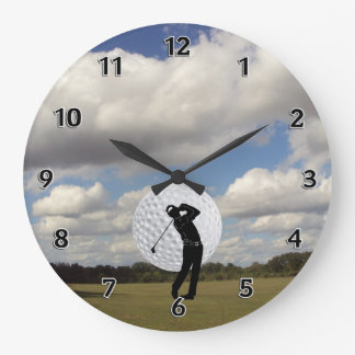 Golf World Large Clock