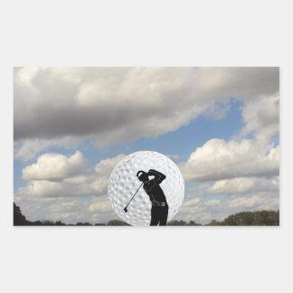Golf World Rectangular Sticker