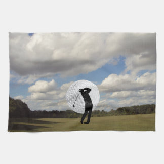 Golf World Tea Towel