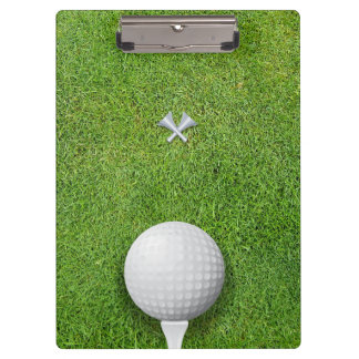 Golfball on Tee Golf Instructor Coach Clipboards
