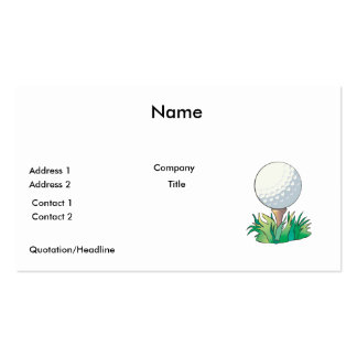 golfball sitting on golf tee business cards