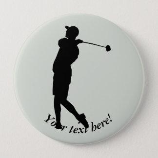 Golfer 10 Cm Round Badge