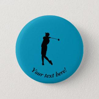 Golfer 6 Cm Round Badge