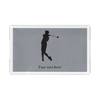 Golfer Acrylic Tray