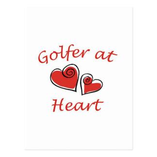 Golfer at Heart Postcards