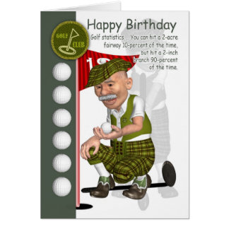 Golfer Birthday Greeting Card With Humor