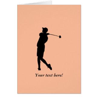 Golfer Card
