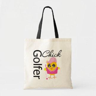 Golfer Chick Budget Tote Bag
