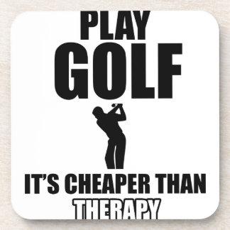 golfer designs coaster