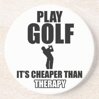 golfer designs drink coaster
