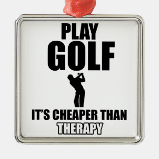 golfer designs metal ornament