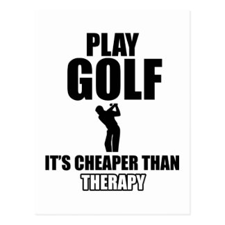 golfer designs postcard