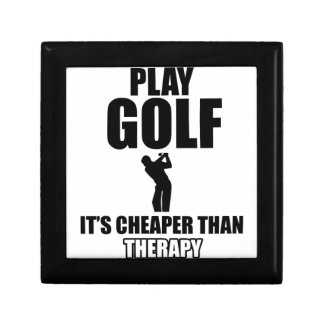 golfer designs small square gift box
