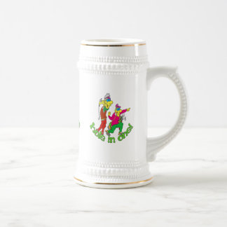 Golfer getting a Hole in one Beer Stein