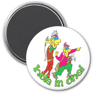 Golfer getting a Hole in one Magnet