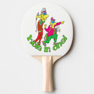 Golfer getting a Hole in one Ping Pong Paddle