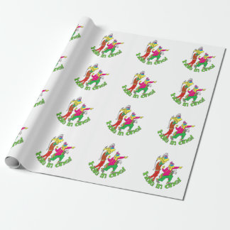Golfer getting a Hole in one Wrapping Paper