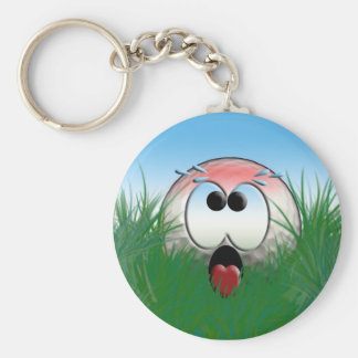 Golfer Gift Idea Golf Player Golfball Humor Funny Basic Round Button Key Ring