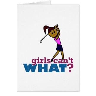 Golfer Girl Card