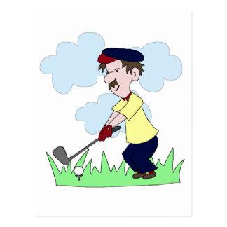 Golfer Guy Postcard