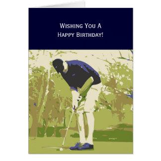 Golfer Happy Birthday Card