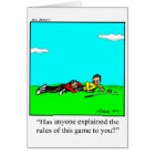 Golfer Humour Greeting Card