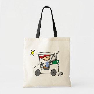 Golfer in Golf Cart Canvas Bags