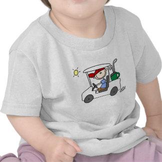 Golfer in Golf Cart Tee Shirt
