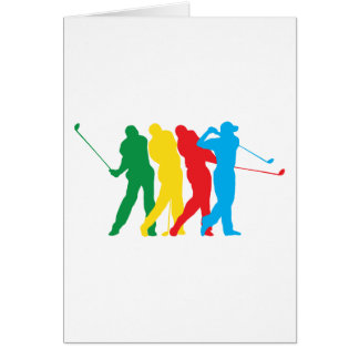 Golfer In Motion Greeting Card