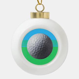 Golfer Inside Christmas ball Ceramic Ball Christmas Ornament