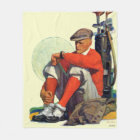 Golfer Kept Waiting Fleece Blanket