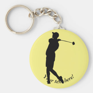 Golfer Key Ring