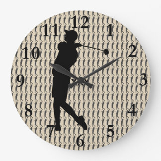 Golfer Large Clock