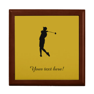 Golfer Large Square Gift Box